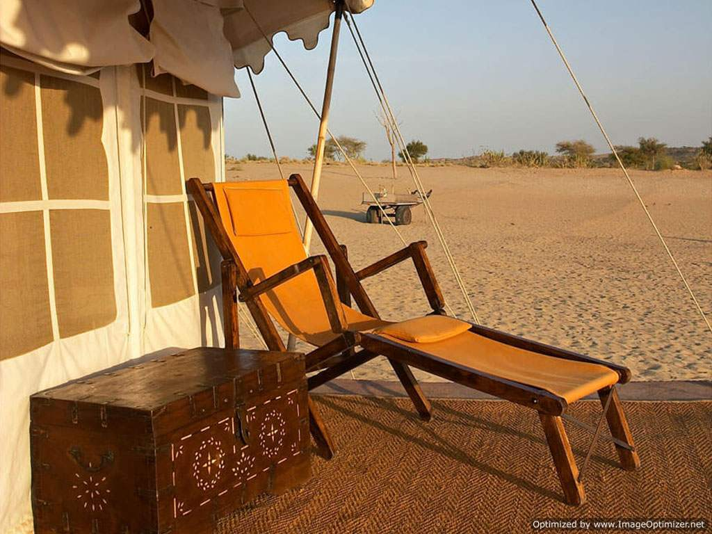 Camp in Arid Thar Desert