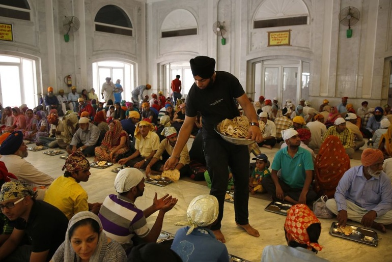 Langar Food at Gurdwara Bangla Sahib